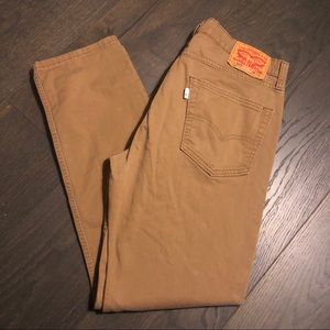 Men's Levi 502 Tan Jeans Size 34/32